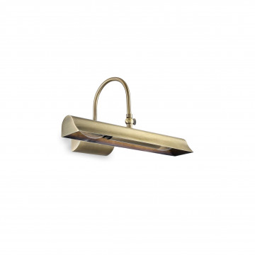 Настенный светильник для подсветки картин Ideal Lux RETRO' AP2 144917, 2xE14x28W, бронза, металл