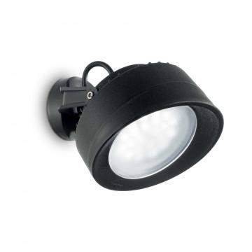 Настенный светильник с регулировкой направления света Ideal Lux TOMMY AP1 NERO 145341, IP66, 1xGX53x7W, черный, пластик