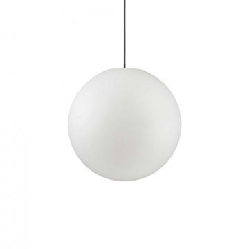 Подвесной светильник Ideal Lux SOLE SP1 MEDIUM 136004, IP44, 1xE27x60W, белый, металл, пластик