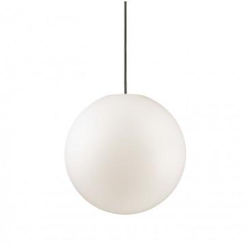 Подвесной светильник Ideal Lux SOLE SP1 SMALL 135991, IP44, 1xE27x60W, белый, металл, пластик