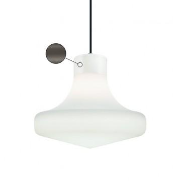 Подвесной светильник Ideal Lux SOUND SP1 ANTRACITE 150048, IP44, 1xE27x60W, серый, белый, металл, пластик