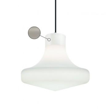 Подвесной светильник Ideal Lux SOUND SP1 GRIGIO 150062, IP44, 1xE27x60W, серый, белый, металл, пластик