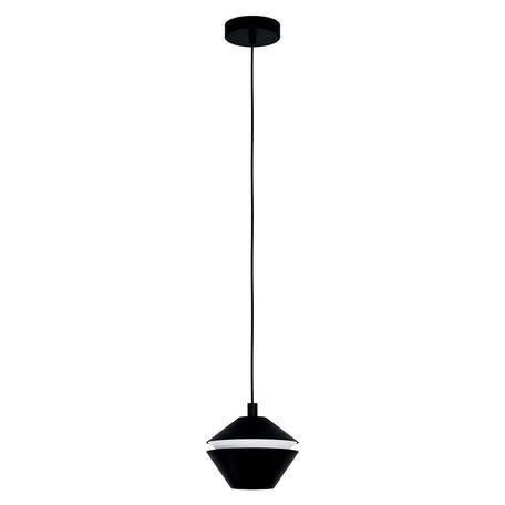 Подвесной светильник Eglo Perpigo 98681, 1xGU10x5W, черный, черно-белый, металл, металл с пластиком