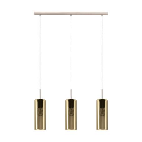 Подвесной светильник Eglo Selvino 98697, 3xE27x15W, никель, золото, металл, стекло