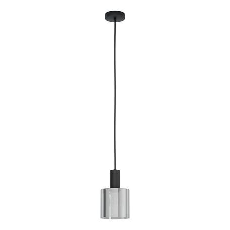 Подвесной светильник Eglo Gorosiba 98752, 1xE27x40W, черный, дымчатый, металл, стекло