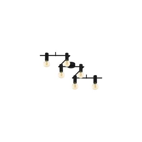 Потолочный светильник Eglo Passa Rella 98756, 6xE27x25W, черный, металл