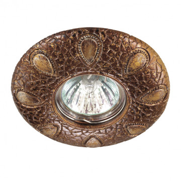 Встраиваемый светильник Novotech Pattern 370098, 1xGU5.3x50W, коричневый с золотой патиной, песчаник