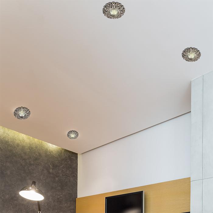Встраиваемый светильник Novotech Pattern 370120, 1xGU5,3x50W, песчаник, хрусталь - фото 3