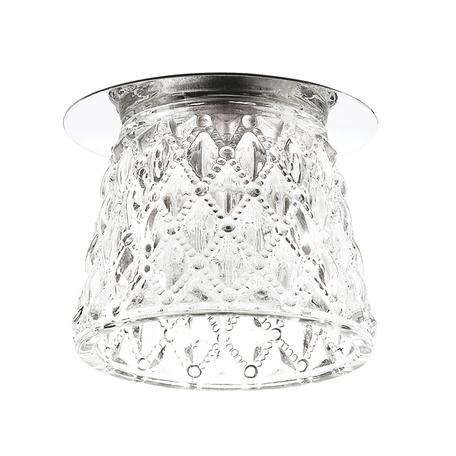 Встраиваемый светильник Novotech Dew 370149, 1xG9x40W, хром, прозрачный, металл, стекло