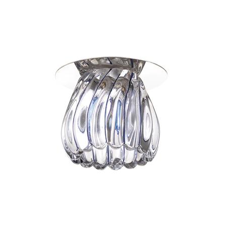 Встраиваемый светильник Novotech Dew 370150, 1xG9x40W, хром, прозрачный, металл, стекло