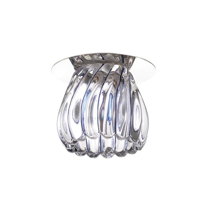 Встраиваемый светильник Novotech Dew 370150, 1xG9x40W, хром, прозрачный, металл, стекло - фото 1