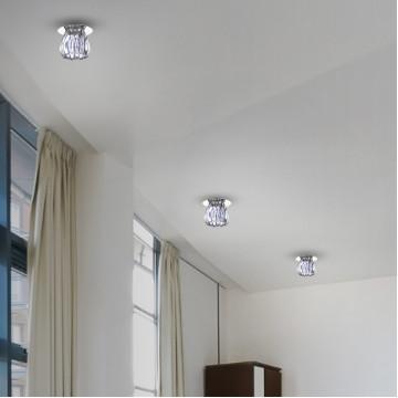 Встраиваемый светильник Novotech Dew 370150, 1xG9x40W, хром, прозрачный, металл, стекло - миниатюра 2
