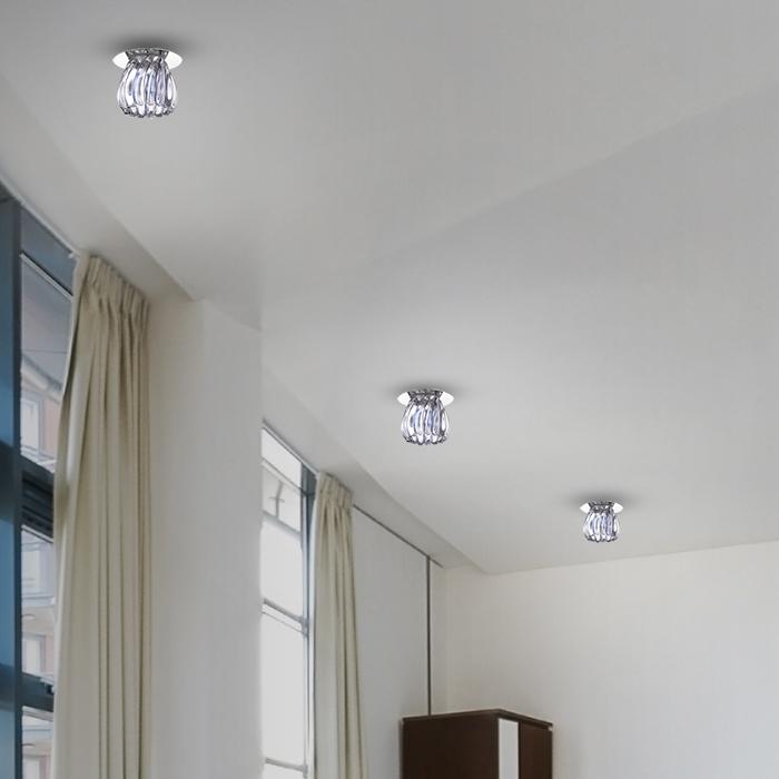 Встраиваемый светильник Novotech Dew 370150, 1xG9x40W, хром, прозрачный, металл, стекло - фото 2