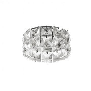 Встраиваемый светильник Novotech Neviera 370164, 1xG9x40W, хром, прозрачный, металл, хрусталь