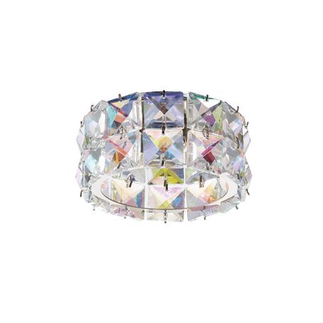 Встраиваемый светильник Novotech Neviera 370165, 1xG9x40W, хром, разноцветный, прозрачный, металл, хрусталь
