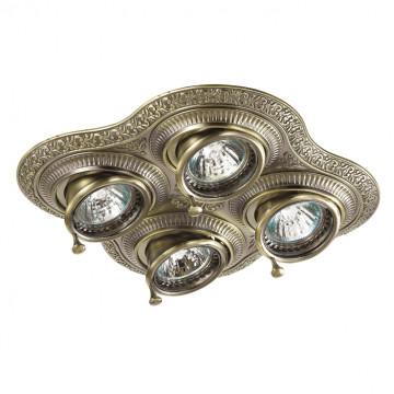 Встраиваемый светильник Novotech Vintage 370178, 4xGU5.3x50W, бронза, металл