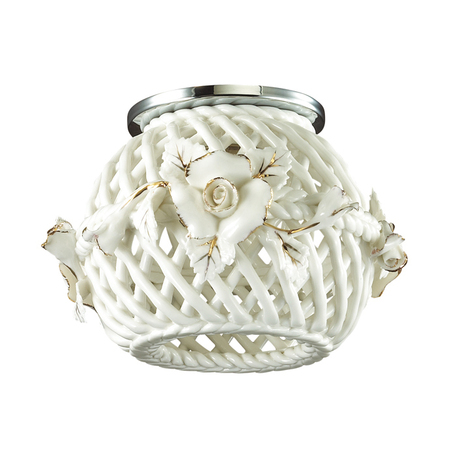 Встраиваемый светильник Novotech Farfor 370207, 1xG9x40W, хром, белый, металл, керамика