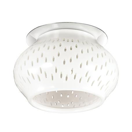Встраиваемый светильник Novotech Farfor 370212, 1xG9x40W, хром, белый, металл, керамика