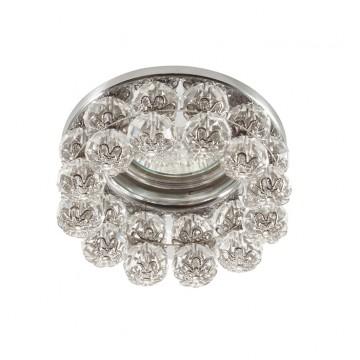 Встраиваемый светильник Novotech Maliny 370227, 1xGU5.3x50W, хром, прозрачный, металл, хрусталь