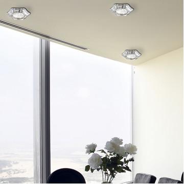 Встраиваемый светильник Novotech Forza 370250, 1xGU5.3x50W, хром, металл - миниатюра 2