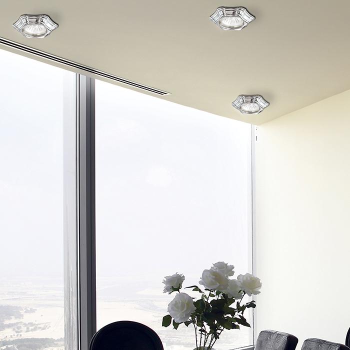 Встраиваемый светильник Novotech Forza 370250, 1xGU5.3x50W, хром, металл - фото 2