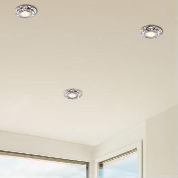 Встраиваемый светильник Novotech Forza 370257, 1xGU5.3x50W, никель, металл - миниатюра 2