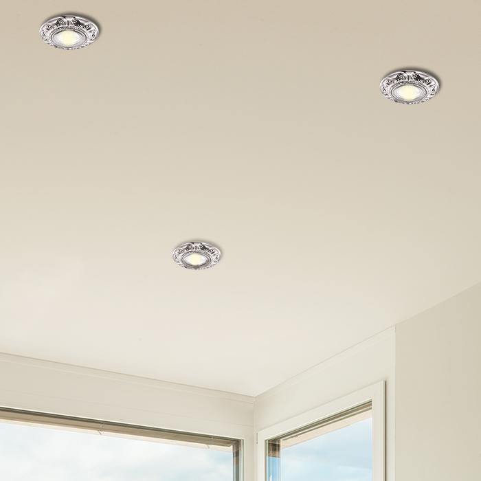 Встраиваемый светильник Novotech Forza 370257, 1xGU5.3x50W, никель, металл - фото 2