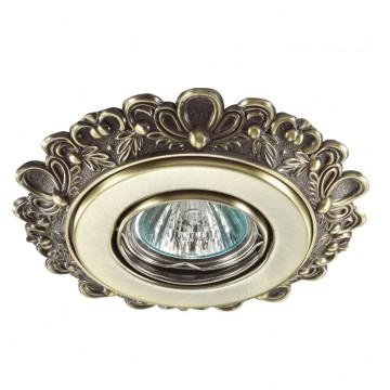 Встраиваемый светильник Novotech Ligna 370268, 1xGU5.3x50W, бронза, металл