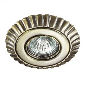 Встраиваемый светильник Novotech Ligna 370272, 1xGU5.3x50W, бронза, металл