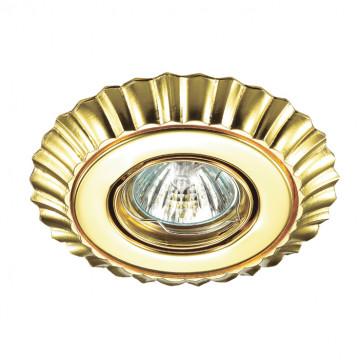 Встраиваемый светильник Novotech Ligna 370274, 1xGU5.3x50W, золото, металл