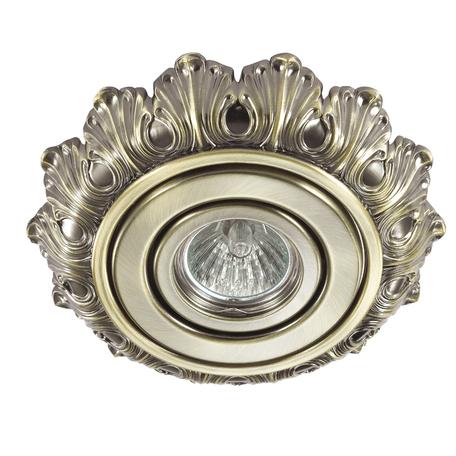 Встраиваемый светильник Novotech Ligna 370276, 1xGU5.3x50W, бронза, металл