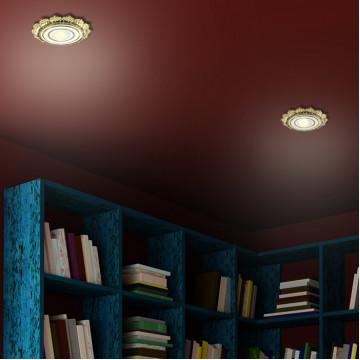 Встраиваемый светильник Novotech Ligna 370278, 1xGU5.3x50W, золото, металл - миниатюра 2