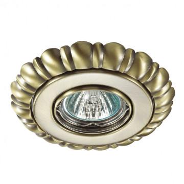 Встраиваемый светильник Novotech Ligna 370280, 1xGU5.3x50W, бронза, металл