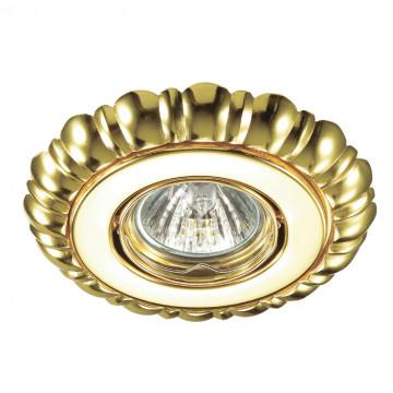 Встраиваемый светильник Novotech Ligna 370282, 1xGU5.3x50W, золото, металл