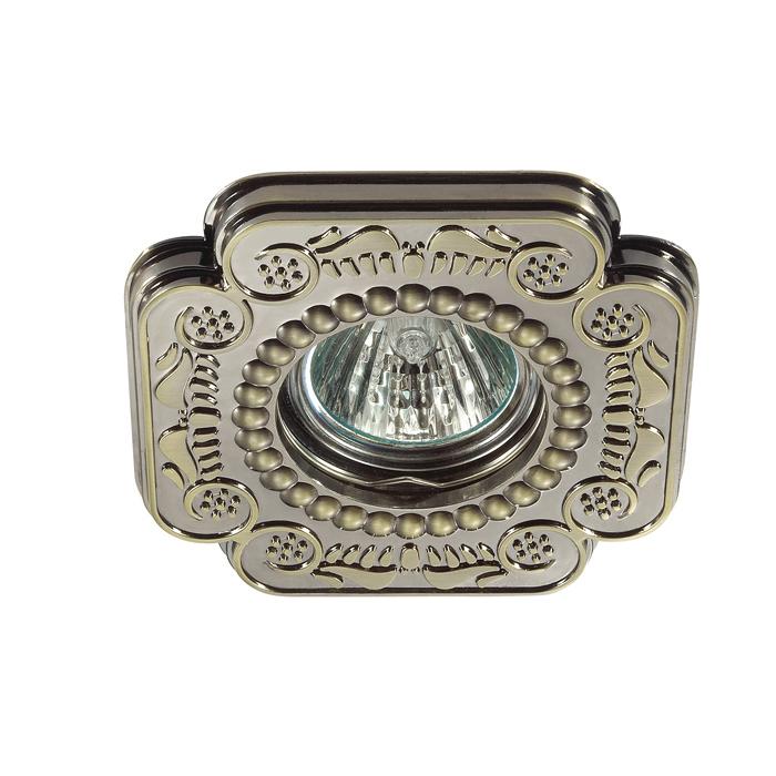 Встраиваемый светильник Novotech Ligna 370284, 1xGU5.3x50W, бронза, металл - фото 1