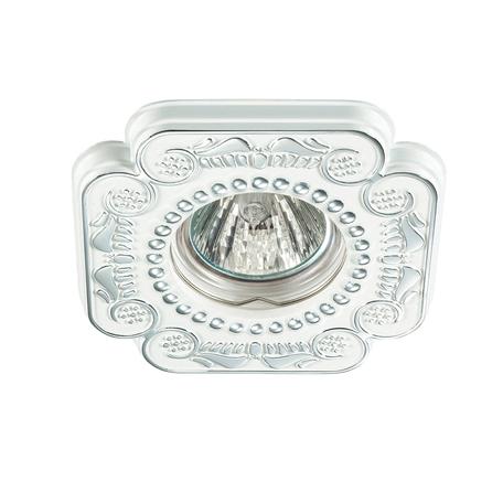 Встраиваемый светильник Novotech Ligna 370285, 1xGU5.3x50W, белый, хром, металл