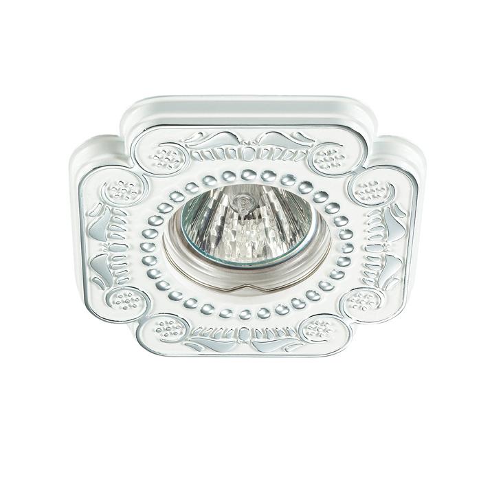 Встраиваемый светильник Novotech Ligna 370285, 1xGU5.3x50W, белый, хром, металл - фото 1