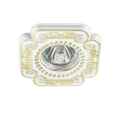 Встраиваемый светильник Novotech Ligna 370286, 1xGU5.3x50W, белый, золото, металл