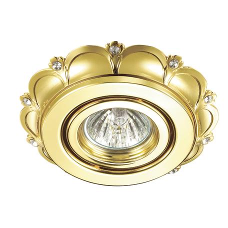 Встраиваемый светильник Novotech Grain 370295, 1xGU5.3x50W, золото, прозрачный, металл, хрусталь