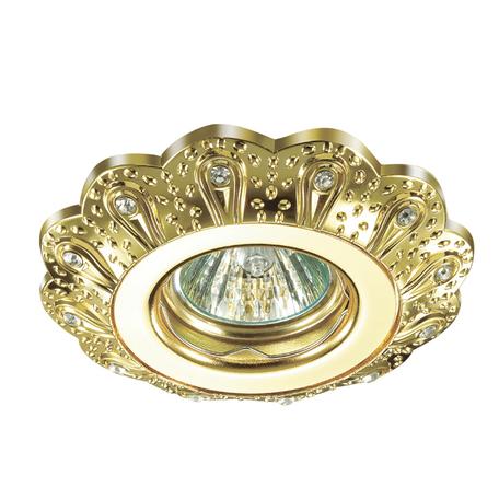 Встраиваемый светильник Novotech Grain 370299, 1xGU5.3x50W, золото, прозрачный, металл, хрусталь - миниатюра 1