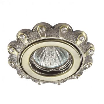 Встраиваемый светильник Novotech Grain 370301, 1xGU5.3x50W, бронза, прозрачный, металл, хрусталь
