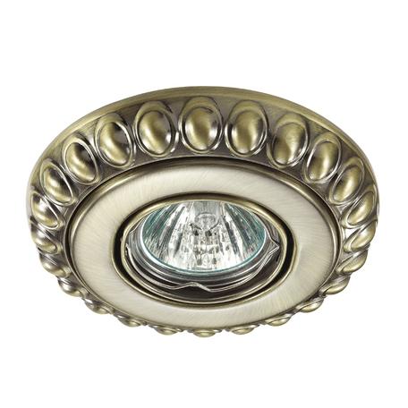 Встраиваемый светильник Novotech Ligna 370304, 1xGU5.3x50W, бронза, металл