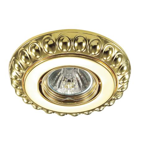 Встраиваемый светильник Novotech Ligna 370305, 1xGU5.3x50W, золото, металл