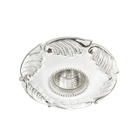Встраиваемый светильник Novotech Pattern 370326, 1xGU5.3x50W, белый, хром, гипс, песчаник