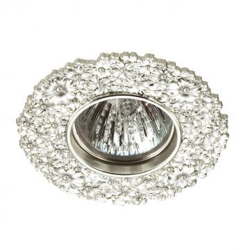 Встраиваемый светильник Novotech Candi 370332, 1xGU5.3x50W, прозрачный, серебро, металл