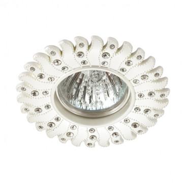 Встраиваемый светильник Novotech Candi 370355, 1xGU5.3x50W, белый, прозрачный, металл