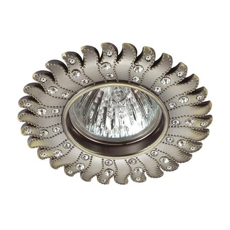 Встраиваемый светильник Novotech Candi 370356, 1xGU5.3x50W, бронза, прозрачный, металл - миниатюра 1