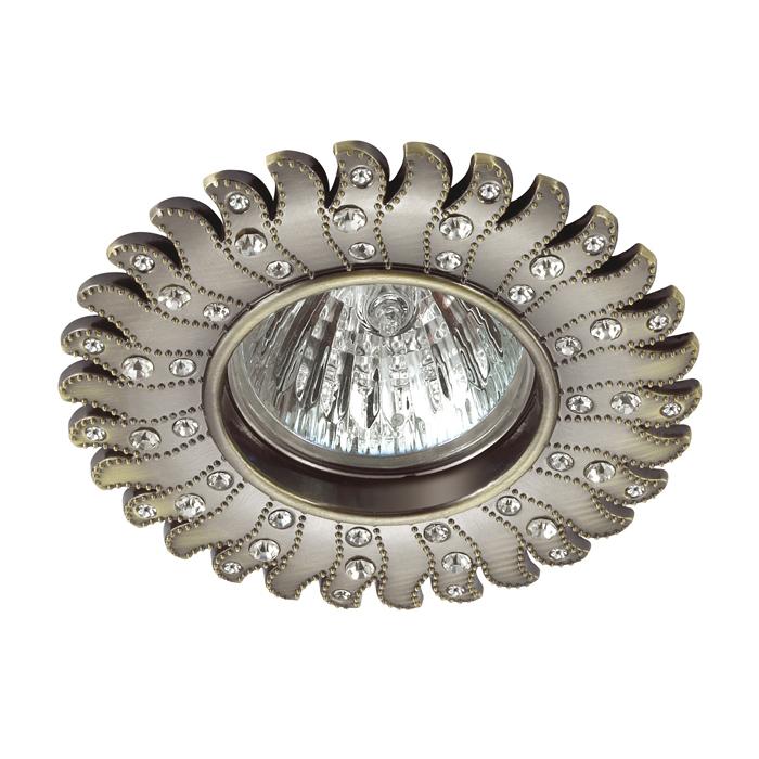 Встраиваемый светильник Novotech Candi 370356, 1xGU5.3x50W, бронза, прозрачный, металл - фото 1