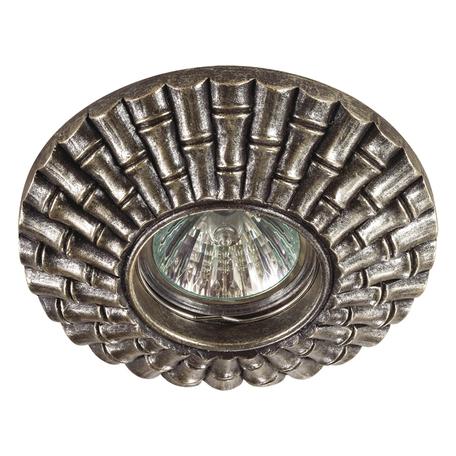 Встраиваемый светильник Novotech Pattern 370134, 1xGU5.3x50W, бронза, песчаник