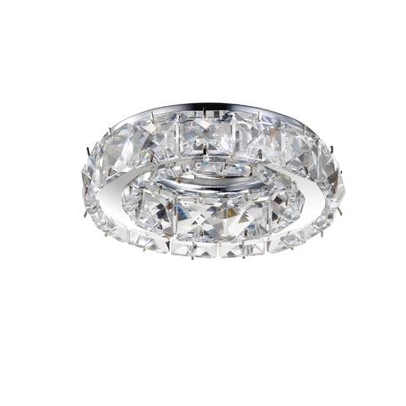 Встраиваемый светильник Novotech Spot Neviera 370168, 1xGU5.3x50W, хром, прозрачный, металл, хрусталь